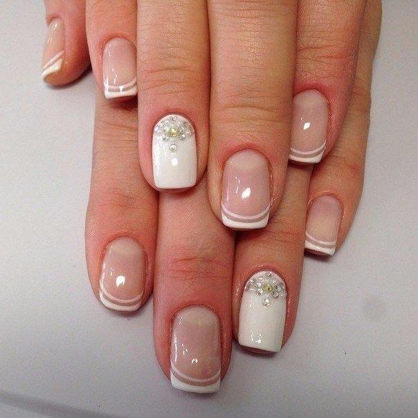 Френч дизайн на коротких ногтях