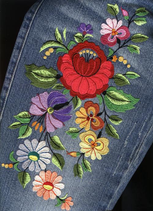 Схемы для вышивки на джинсах 84