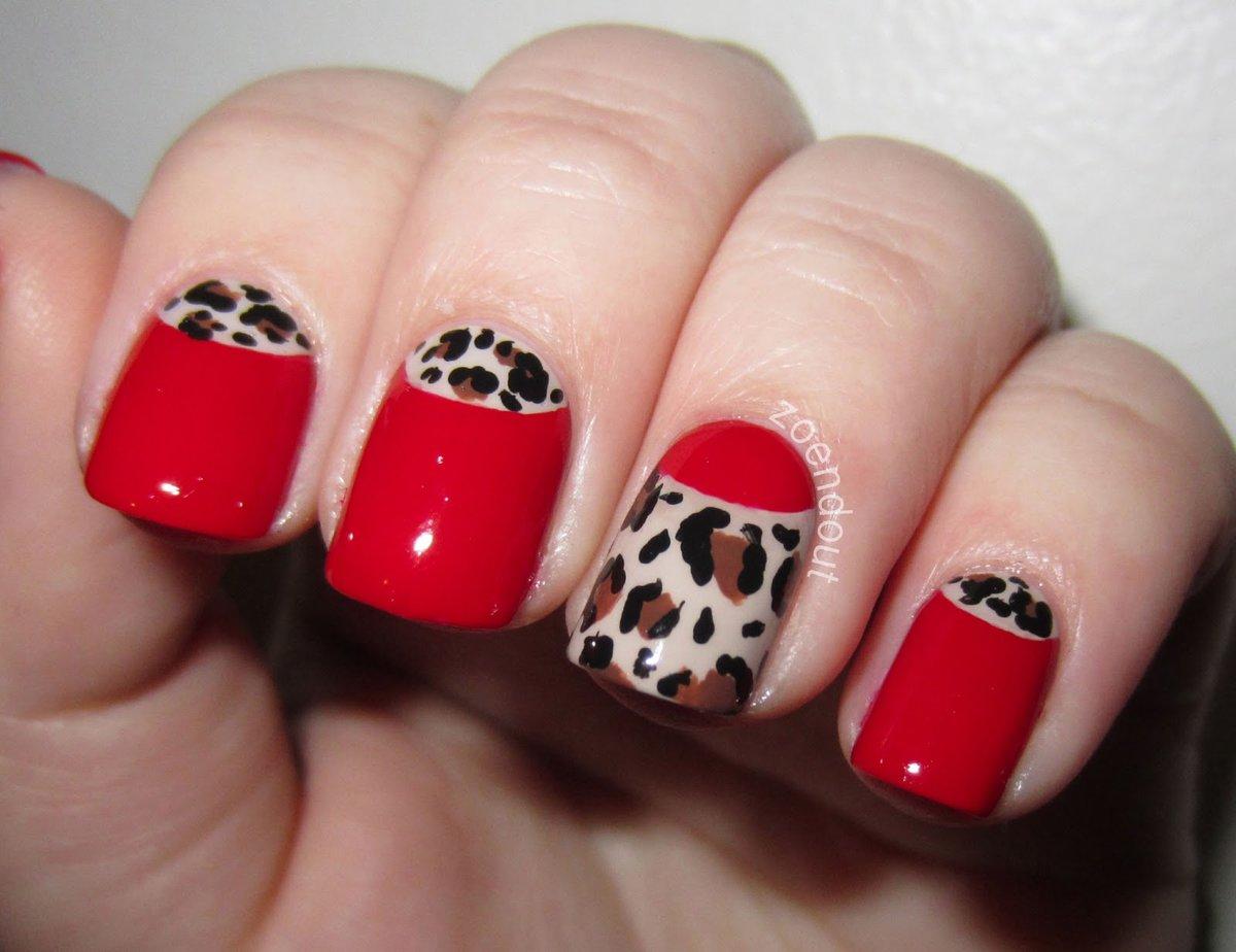 Дизайн красных ногтей фото пошагово