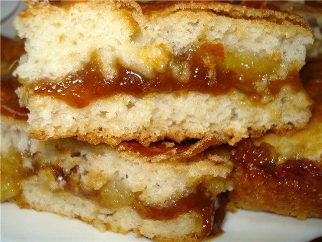 Пирог с вареньем без дрожжей рецепт