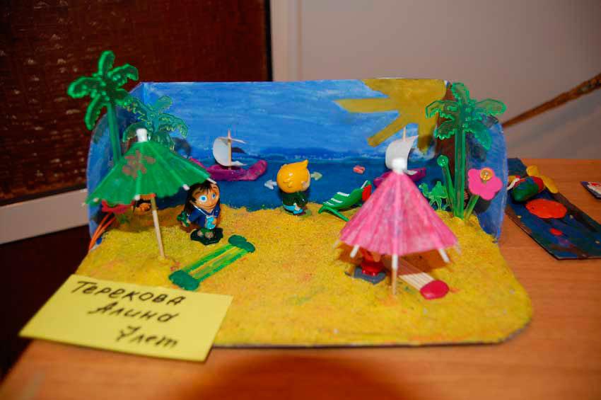 Поделка лето в детский сад 49