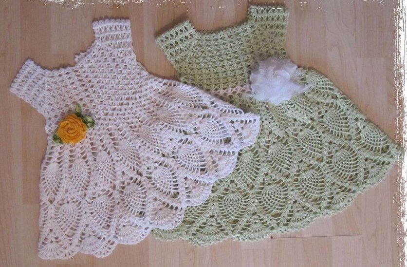 Вязание крючком платье ананасами для девочки крючком 95