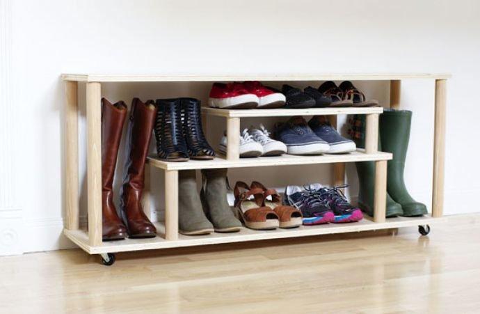 Как сделать полки для обуви