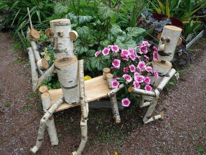 Поделки для сада и огорода и описание из дерева