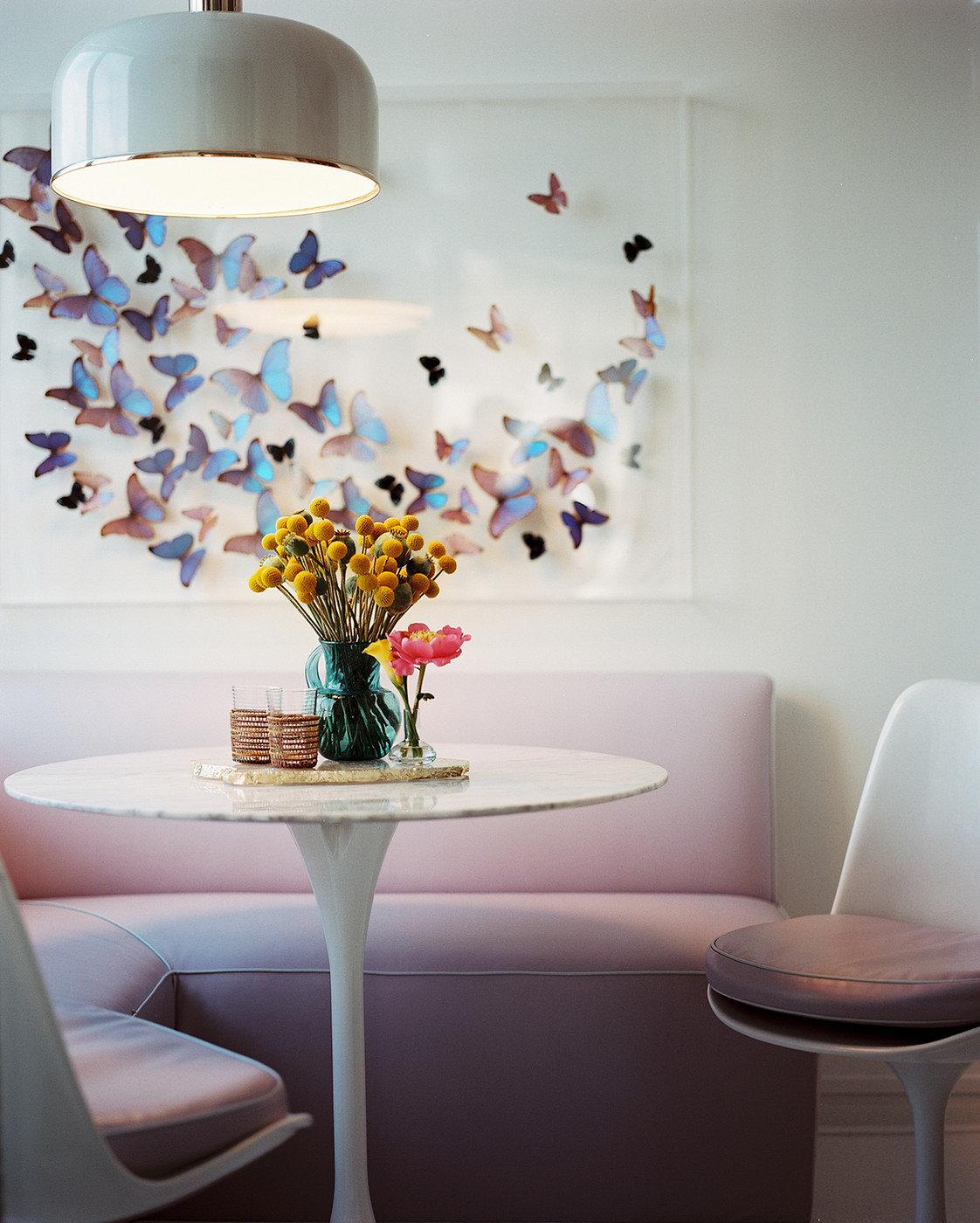 Декор стен бабочками своими руками: трафареты, материалы 4