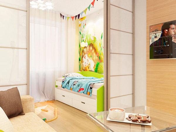 Как в однокомнатной квартире сделать детскую