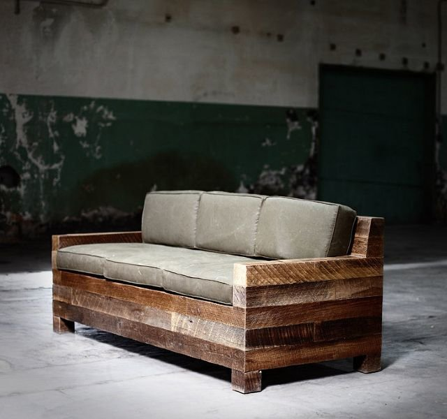 Деревянный диван своими руками 350