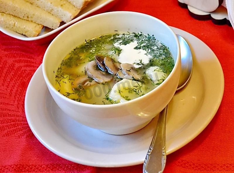 Мясной суп с грибами рецепт с фото