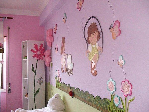 Оформить детскую комнату для девочек своими руками 8