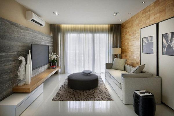 Современный дизайн гостиной комнаты в современном стиле