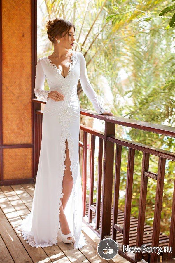 Платья для невесты в пол