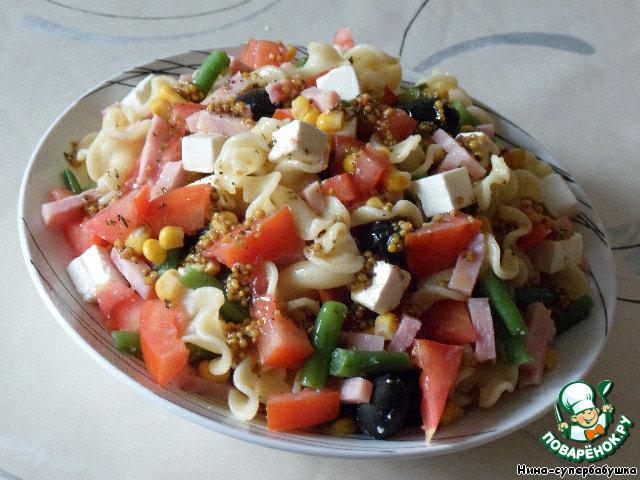 Рецепт салата с макаронами пошаговое