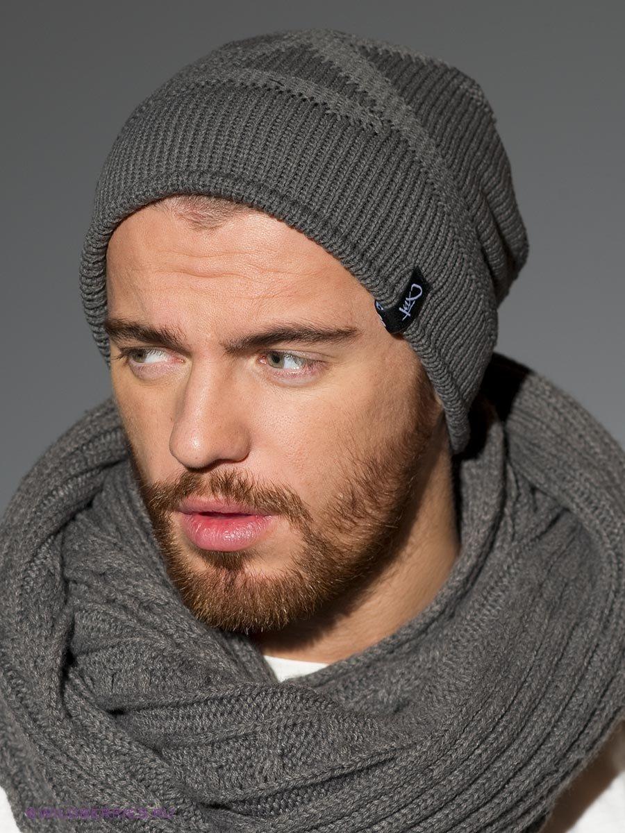 Вязание шапок спицами для мужчин модные модели 2018 45