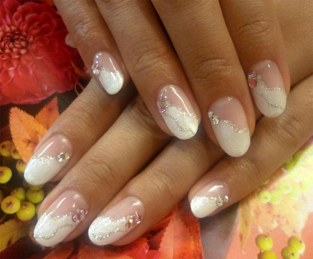 Маникюр на коротких ногтях свадебный своими руками 4