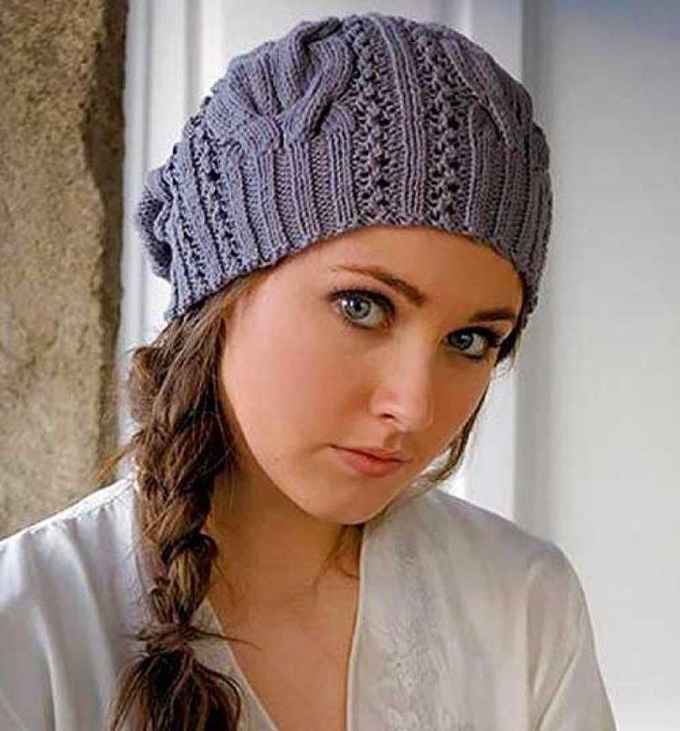 Модная шапка спицами своими руками