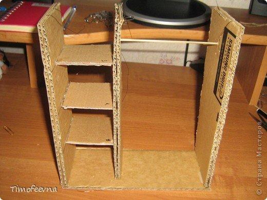 Как сделать шкаф из картона для куклы своими 155