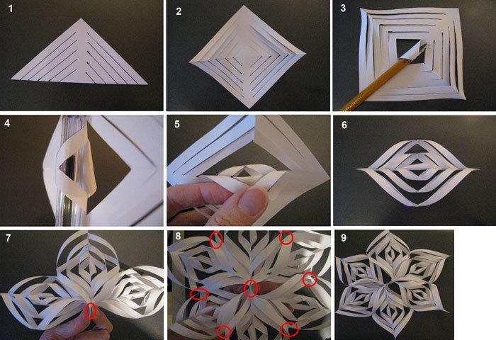 Бумажные поделки для нового года своими руками - Поделки своими руками из природного материала - карточка от пользователя Niko B