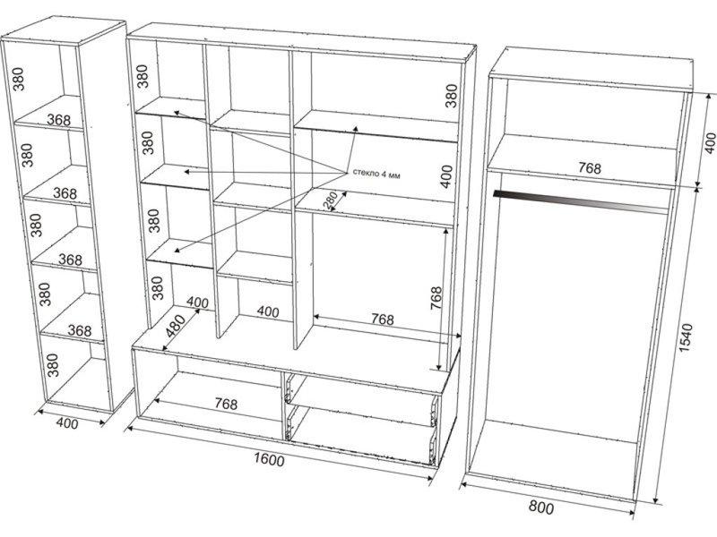 Мебель из лдсп чертежи и схемы