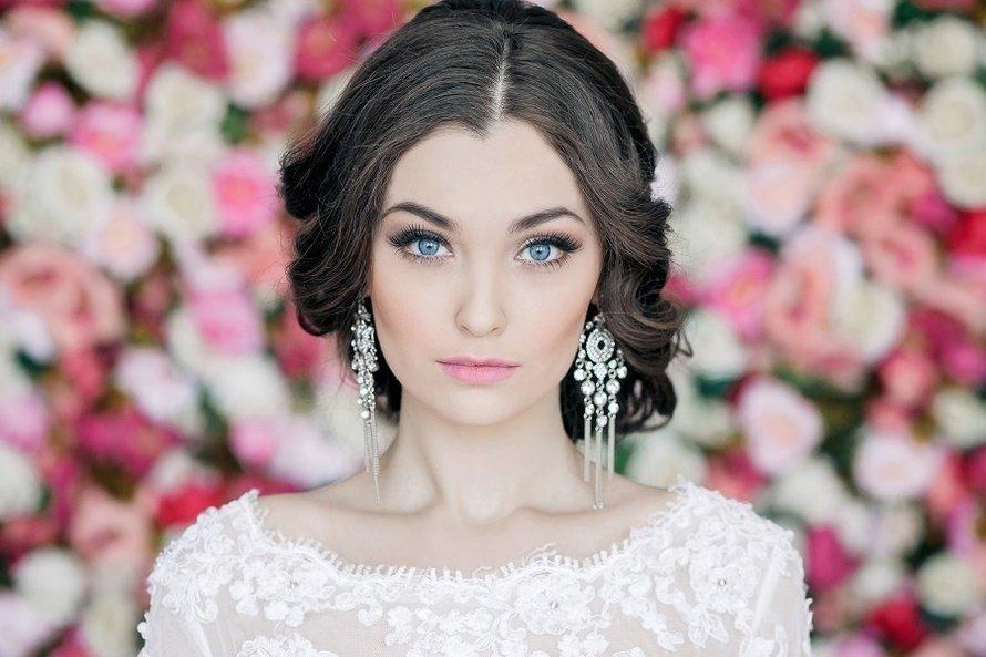 Свадебный макияж голубых глаз