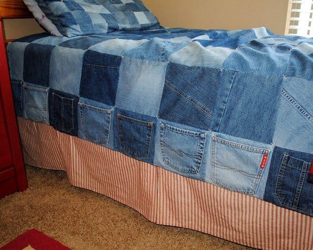 Как сшить из джинсов пледы 173