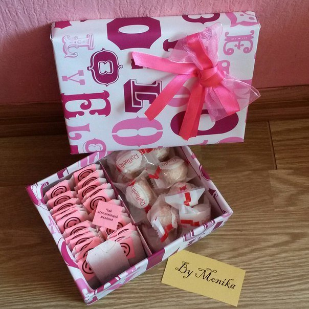 Подарок подруге своими руками в коробке 26