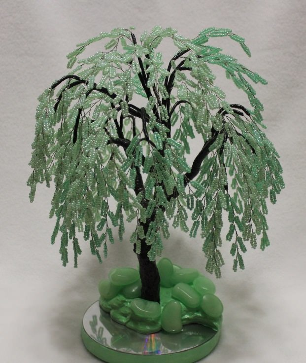 Ива дерево из бисера своими руками для начинающих видео