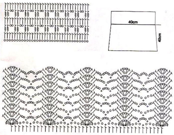 Вязание крючком юбка схемы узоры