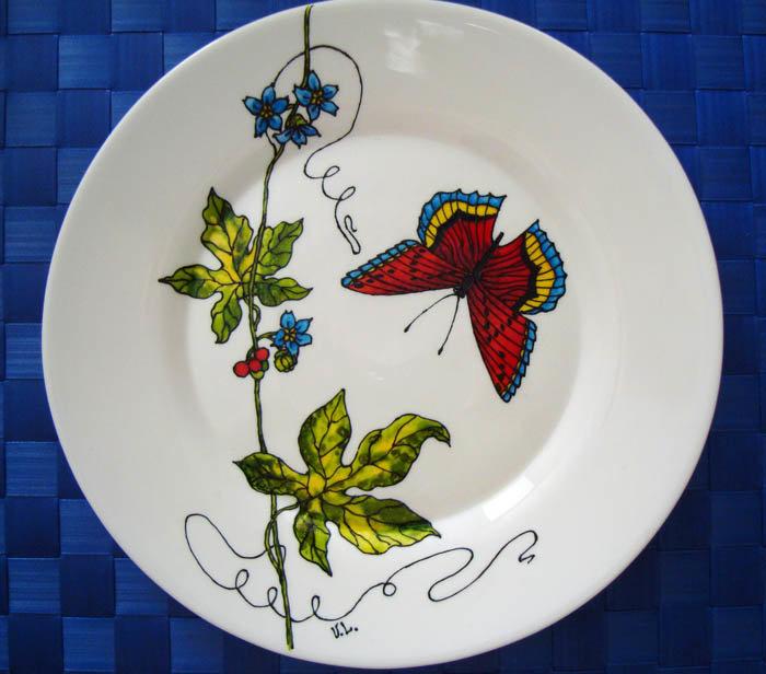 Тарелки с росписью своими руками