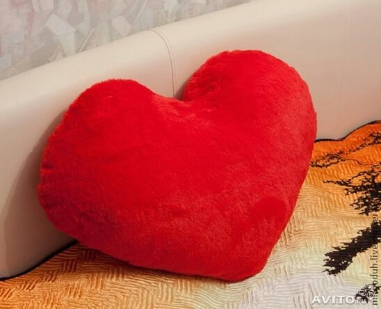 Как сделать подушку сердечко