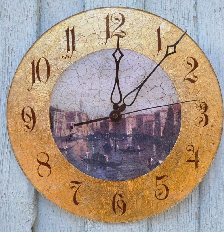 Винтажные настенные часы своими руками 40