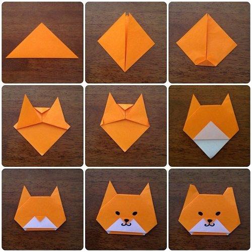Как сделать из бумаги лицо животных