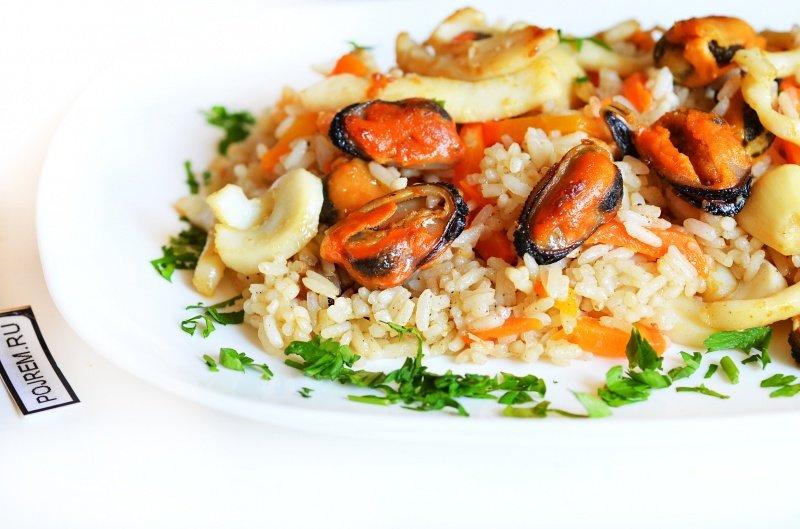 Приготовить морепродукты с рисом рецепт 50