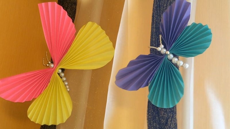 Сделать бабочку своими руками из цветной бумаги