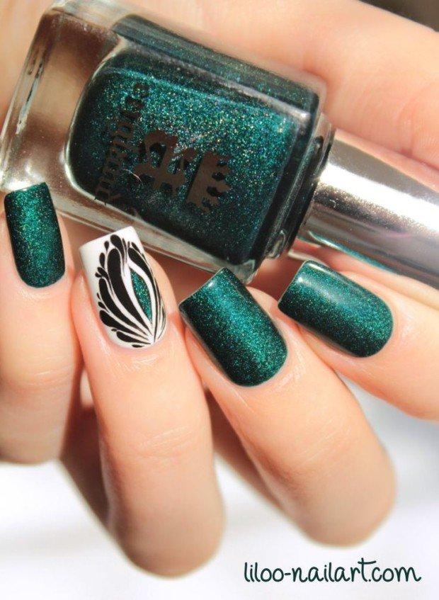 Ногти дизайн в зеленом цвете