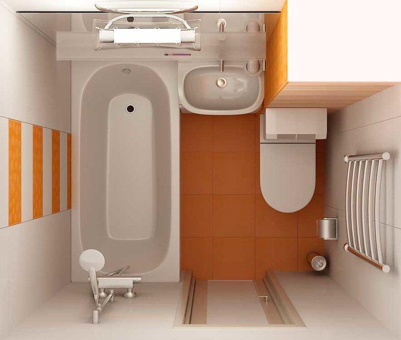 Дизайн санузла 4 кв. м