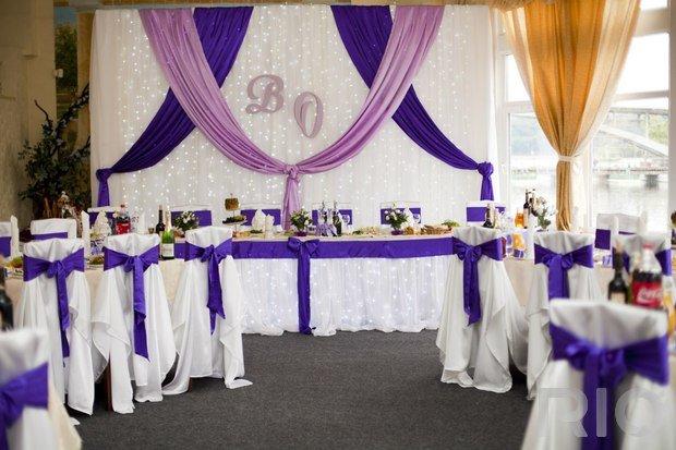 Оформление заднего фона на свадьбу