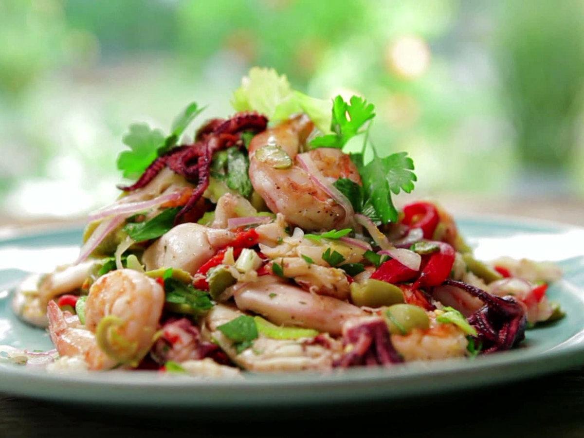 Рецепты салатов из морепродуктов рецепты с простые и вкусные