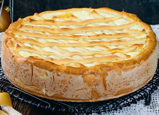 Пирог с творогом рецепт с фото пошагово в духовке из слоеного теста