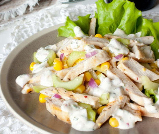 Салат с курицей и корнишонами рецепты