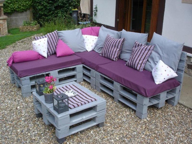 Садовая мебель из поддонов своими руками