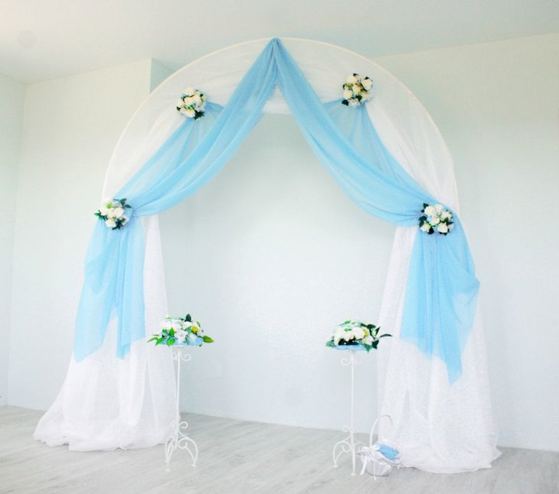 Свадебные арка из ткани своими руками