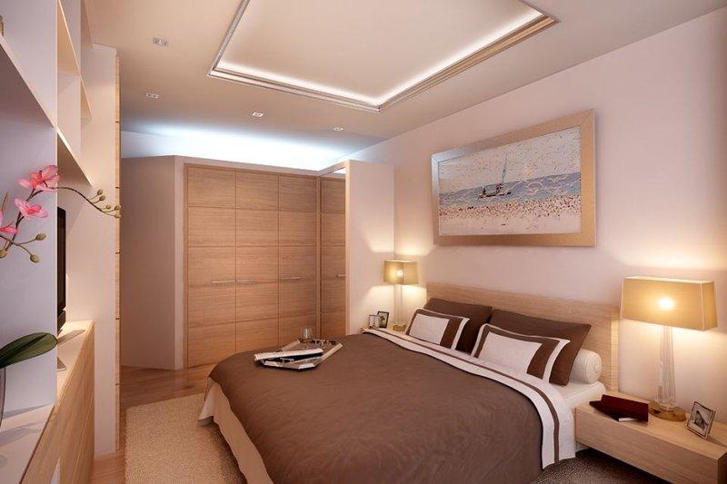 Дизайн спальной комнаты 11 квм фото