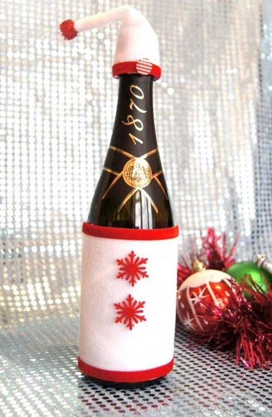 Украшения на шампанское на новый своими руками