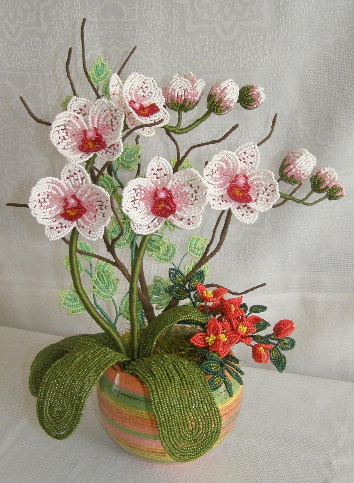 Орхидеи своими руками из бисера