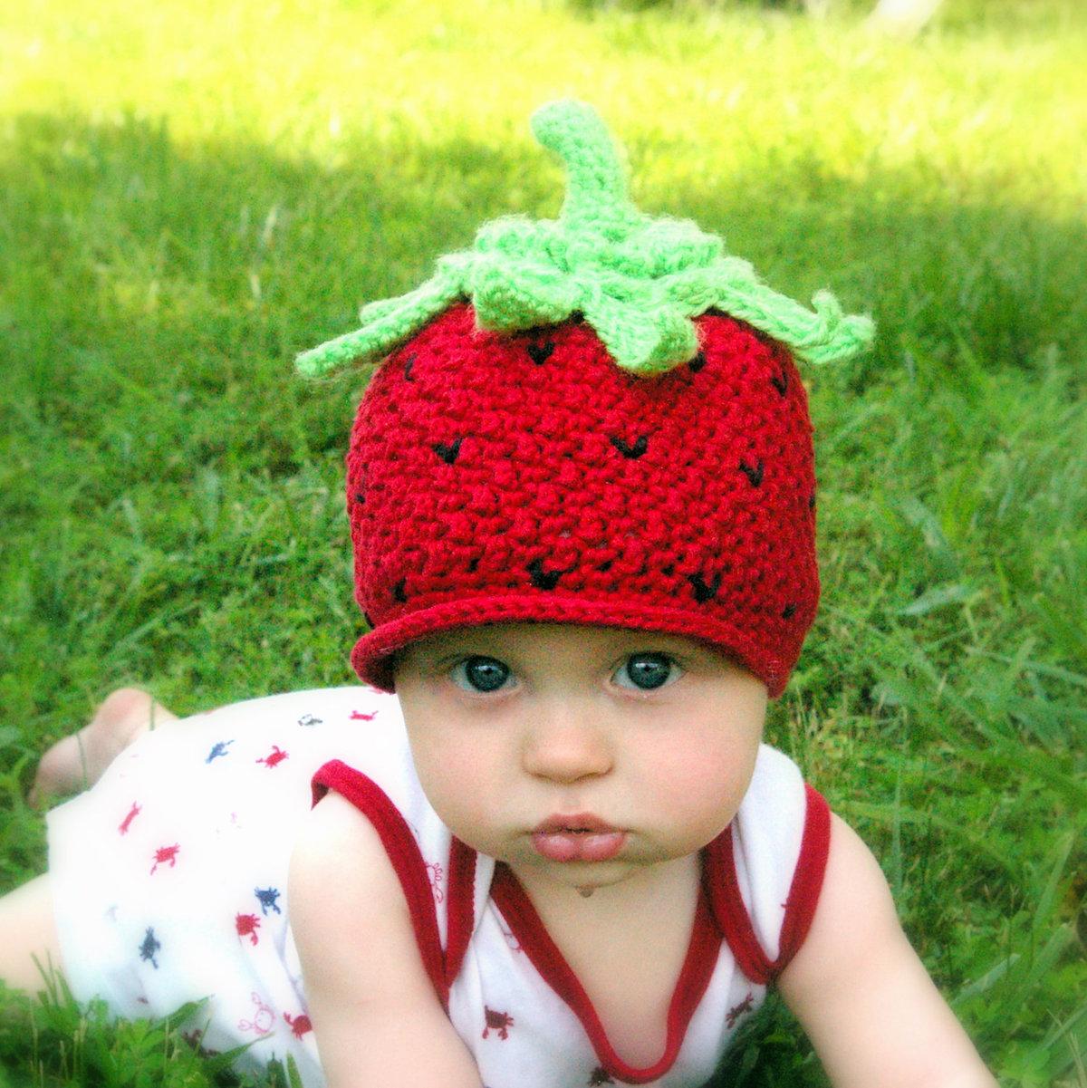 Вязание крючком для детей шапка