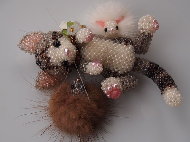 Плетение из бисера котов фото схемы