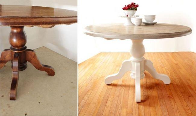 Как реставрировать старый круглый стол