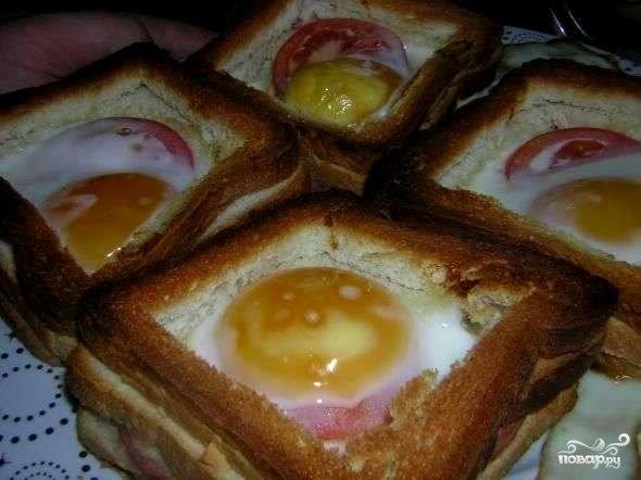 Как сделать бутерброд с яйцами 773