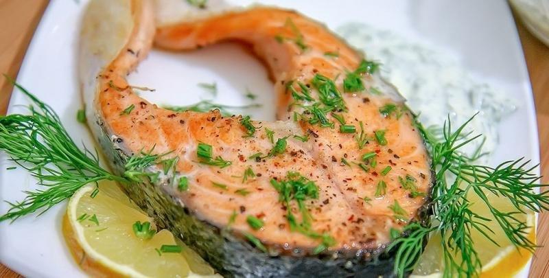 Стейк лосося на пару в мультиварке рецепт с фото
