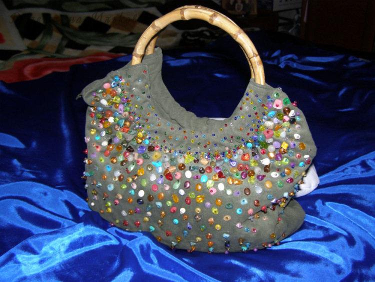 Декор бусинами сумки своими руками мастер класс 39